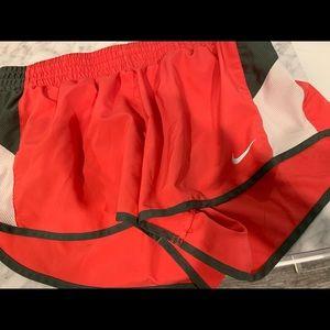 coral nike shorts